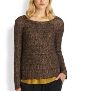 Eileen Fisher Ballet Neck Mohair Metallic Sweater